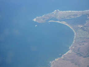 Ah, close to home. Descent into the SF Bay area. This is the Pacific coast and you can make out Point Reyes.