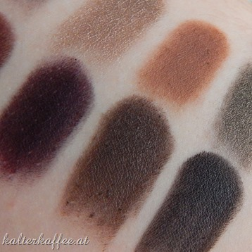 Zoeva Eyeshadow Smoky Palette swatches
