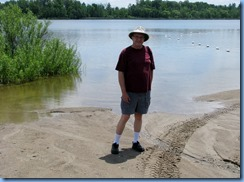 4908 Laurel Creek Conservation Area  - Bill at beach on Laurel Reservoir