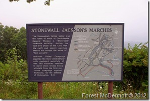 Stonewall Jackson's Marches, Skyline Drive at Fisher's Gap Overlook