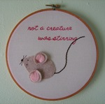 Megan-Fowl Single File-Embroidery Hoop