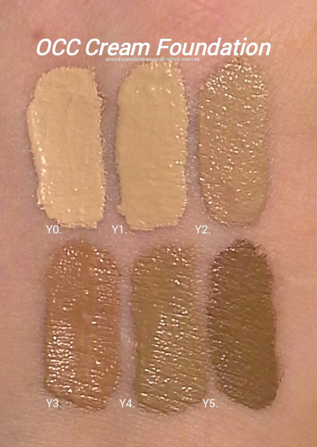 Obsessive Compulsive Cosmetics Creme Colour Foundation; Review & Swatches of Shades