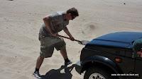 Erste Fahrversuche im Sand