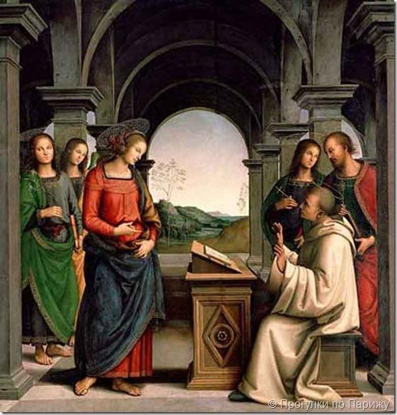 Видение святого Бернарда. Перуджино.