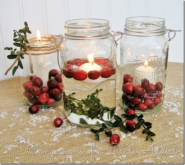 CONFESSIONS OF A PLATE ADDICT Mason Jar Christmas Candles