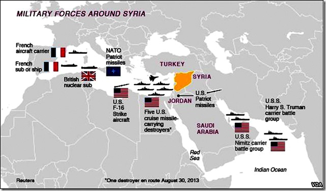 US Military Forces Around Syria map