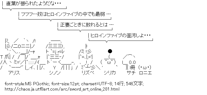 ソードアート・オンライン,四天王