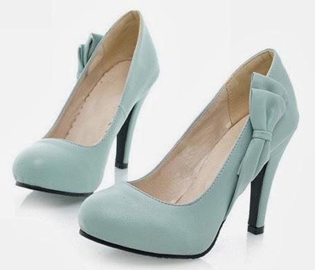zapatos azul claro