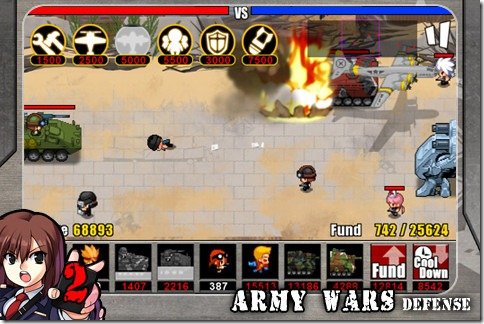 y Wars Defense 2 is a spinoff of the Army Wars Defense which acquired a favorable reputation
