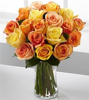 coral,orange ,yellow roses_Large