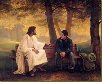 JESUS CON JOVEN