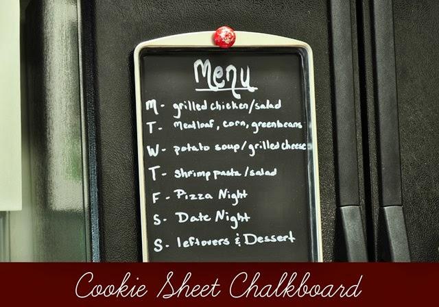 Cookie sheet chalkboard