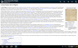 Screenshot of Kiwix, Wikipedia offline