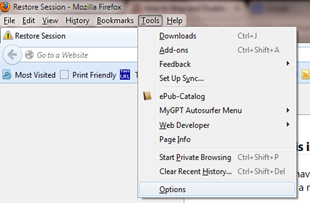 การตั้งค่าการอัพเดทในเวบบราวเซอร์ Firefox