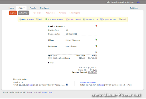 Open Source Simple Invoice Operlyinginfo - Open source invoice software