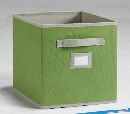 Our cube organizers and fabric drawers are a smart, affordable design that will help you tackle even the most daunting storage problems.  Plus, they come in great colors (this light green cube is called