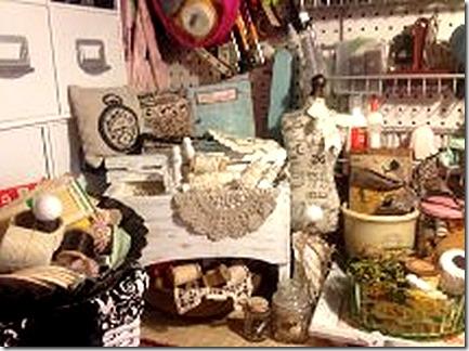 display of vintage findings