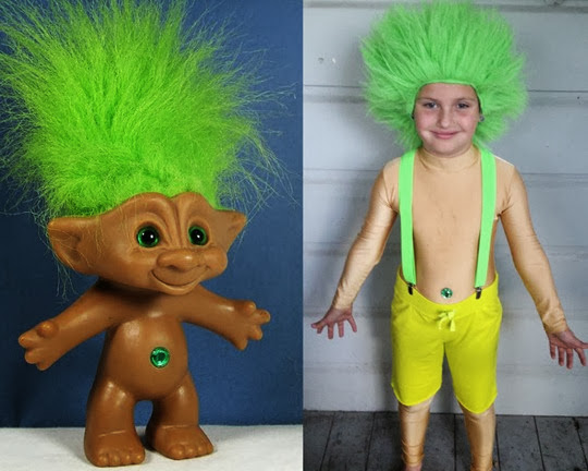 Disfraz infantil de Troll (Troll doll costume child)