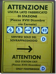 Cartello Stazione a destra