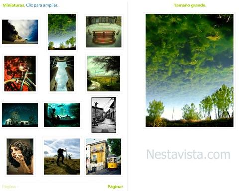 Galeria de imagenes cargadas dinamicamente