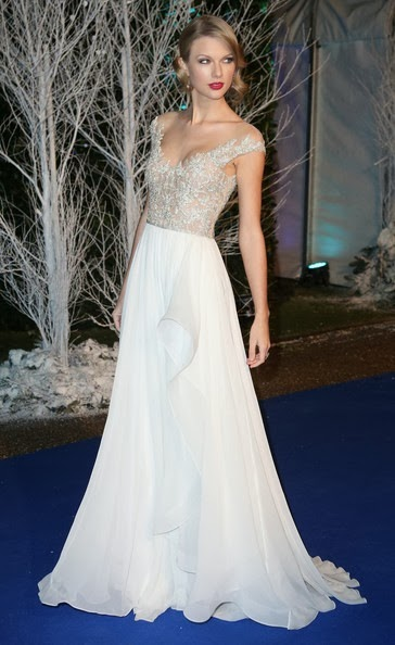 Taylor Swift Arrivals Winter Whites Gala London