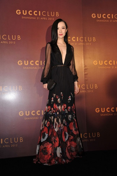 Huo Siyan attends the Gucci Fashion Show after-party