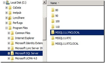 Lync 2013 - DB Location - 1 SE C Only SQL Install