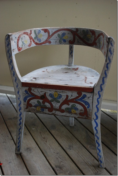 målad stol