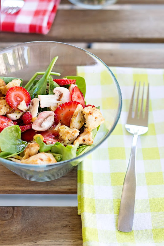 Spinach Strawberry Summer Salad