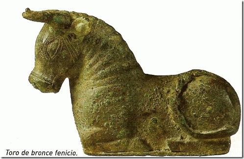 Art Esc Toro fenicio bronce