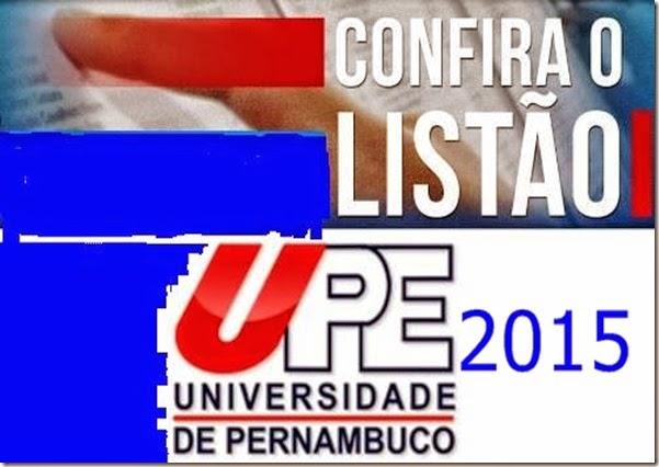 lista vestibular UPE