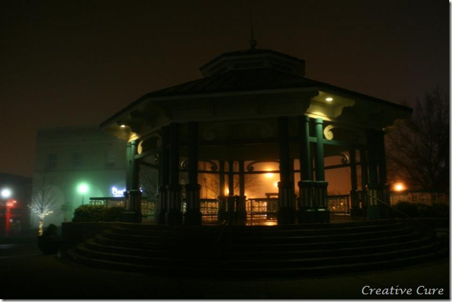 The gazebo outside