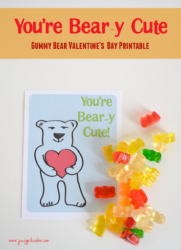 picture relating to Gummy Bear Printable named Youre Beary Lovely - Gummy Undergo Valentine Printable - Poofy
