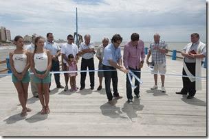 Juan Pablo de Jesús participó de la inauguración de la obra de refacción del Muelle de Pesca de Santa Teresita