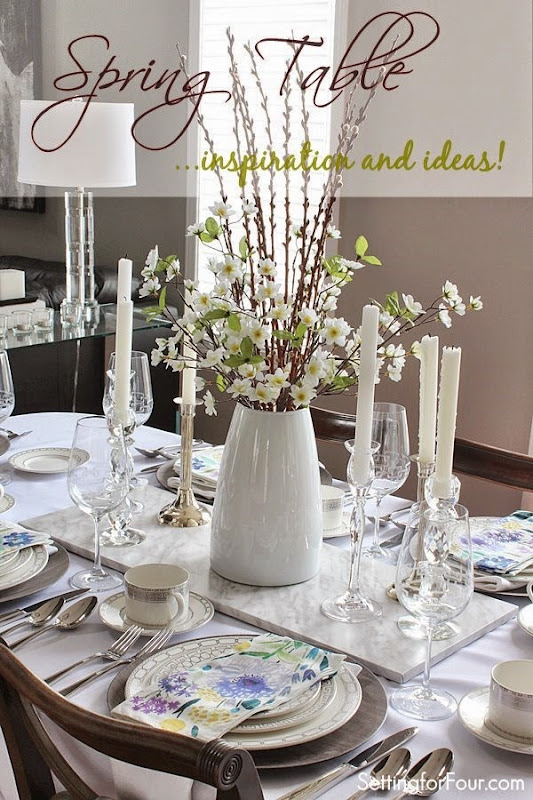 Spring table inspiration and decor tips. Easy ideas to add spring color to your table!