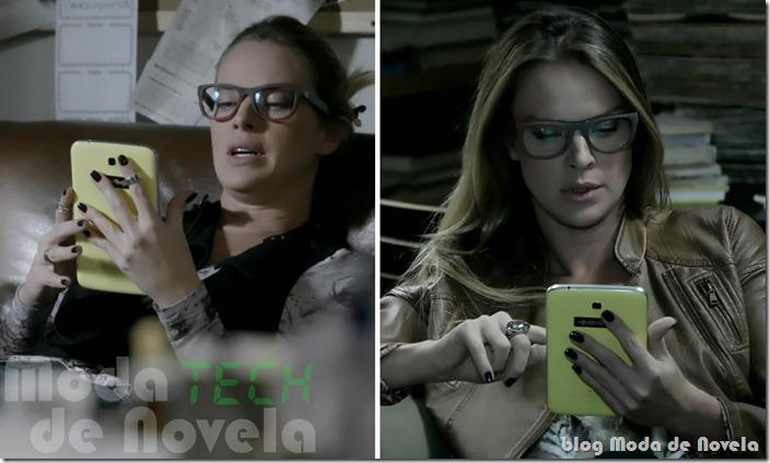 moda da novela império - tech capítulo 04 de setembro de 2014 - tablet amarelo da érika