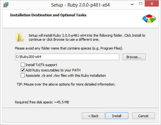 The Ruby installer for Windows