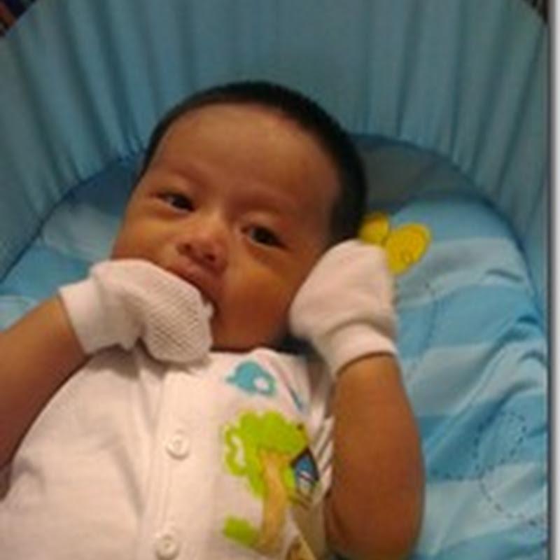 Qhaliff, yang baru 2 bulan ..