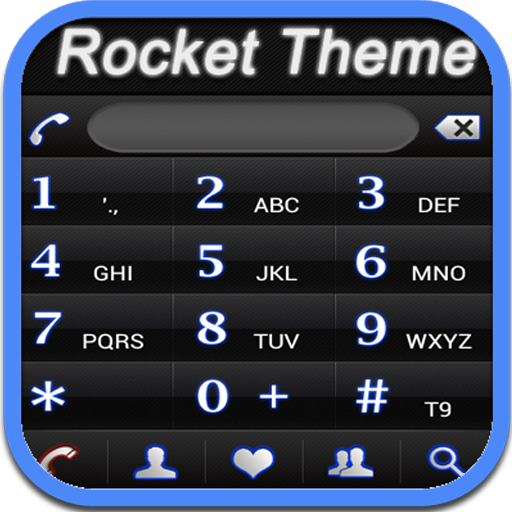 RocketDial Neon Black Theme 通訊 App LOGO-硬是要APP