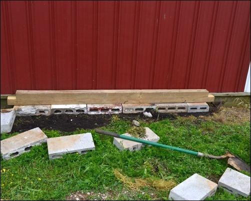 starting the herb garden frame