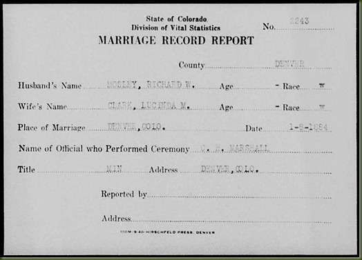 Richard-W-Mosley-and-Lucinda-M-Clark-marriage