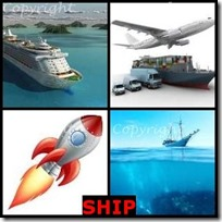 SHIP- 4 Pics 1 Word Answers 3 Letters