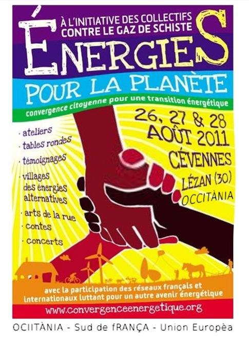aficha contra la politica del gaz de sistre en Occitània