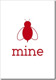 Just Because 44 - bee mine - white-berry red - 5x7 - Sprik Space