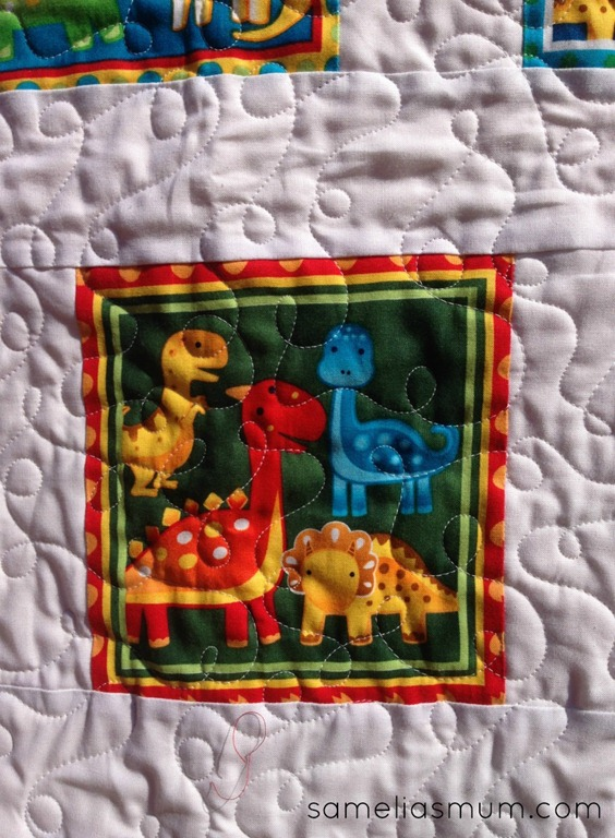 Baby Dino Quilt 2