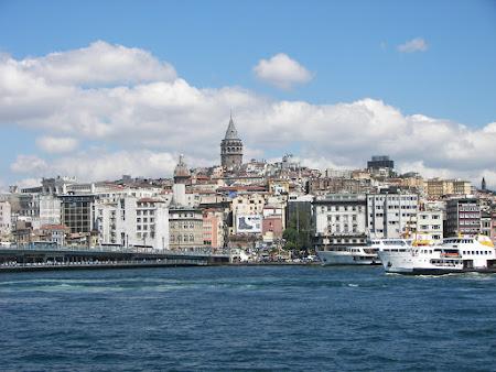 Obiective turistice: turnul Galata Istanbul