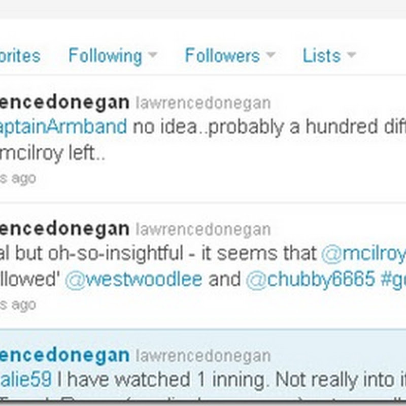 Rory Unfollows Chubby and Lee on twitter. Great Spot by @lawrencedonegan