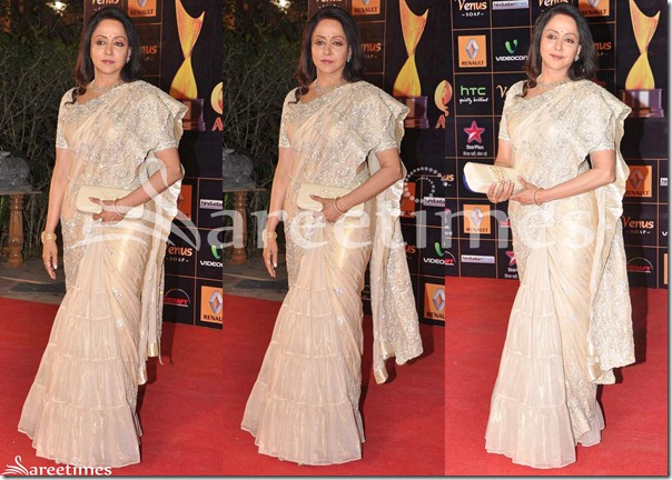 Hema_Malini_Cream_Saree