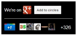 google plus badge dark