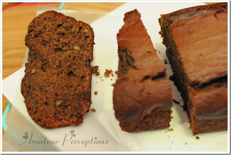 Chocolate Banana  Nut bread 4